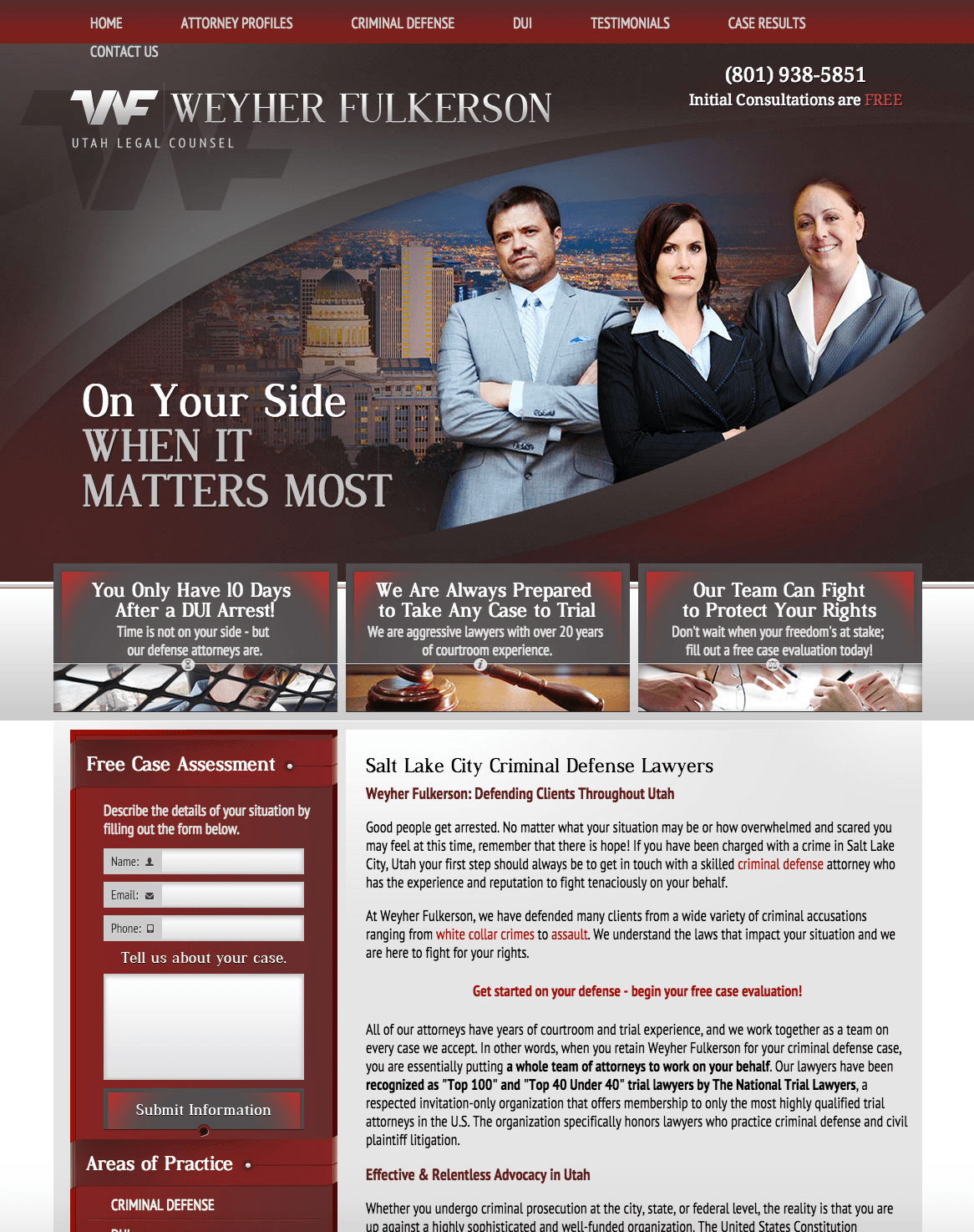 Criminal Defense Lawyers Landing Page - Disruptive Advertising