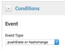 DTM pushState or hashchange event type