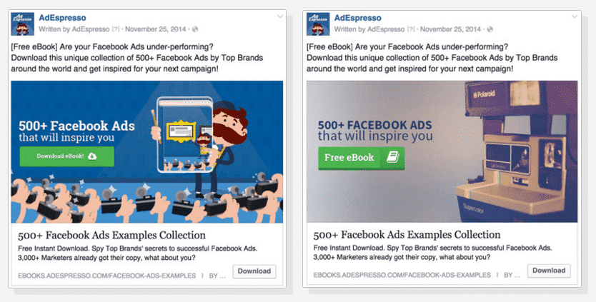 Facebook Advertising | AdEspresso example