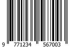 ISSN-barcode