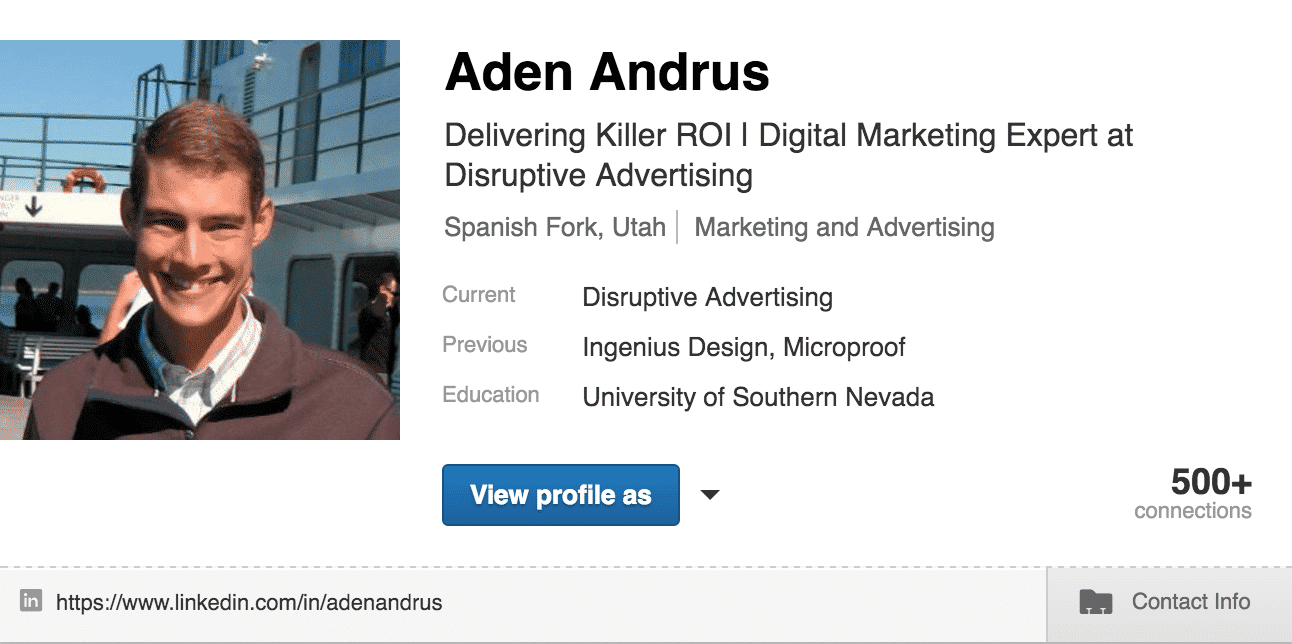 LinkedIn Title | Disruptive Advertising