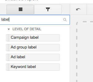 Filtering for Labels in Your AdWords Report | Disruptive Advertising