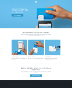 Square Does Not Use a Long Landing Page | Disruptive Advertising