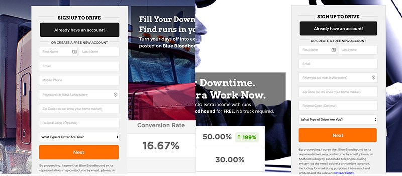 Where You Place Your Landing Page Forms Matters | Disruptive Advertising