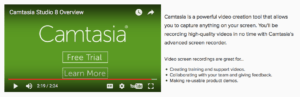 Camtasia's Landing Page Video | Disruptive Advertising
