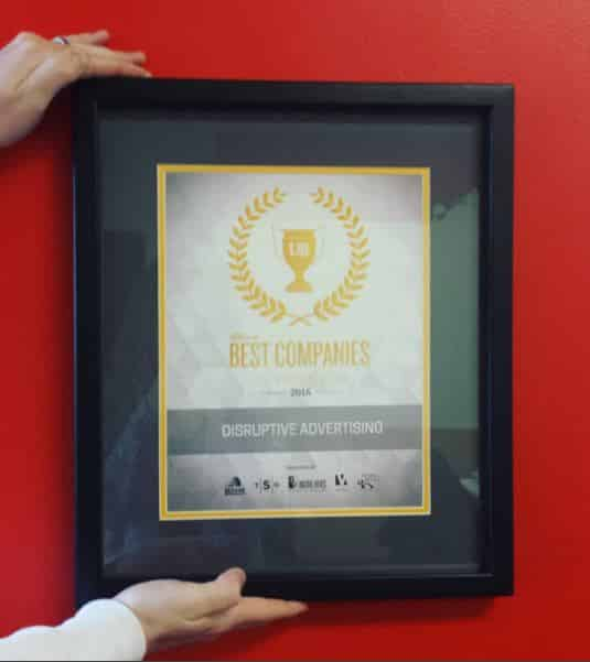 Disruptive Advertising Named Best Company to Work For | Disruptive Advertising