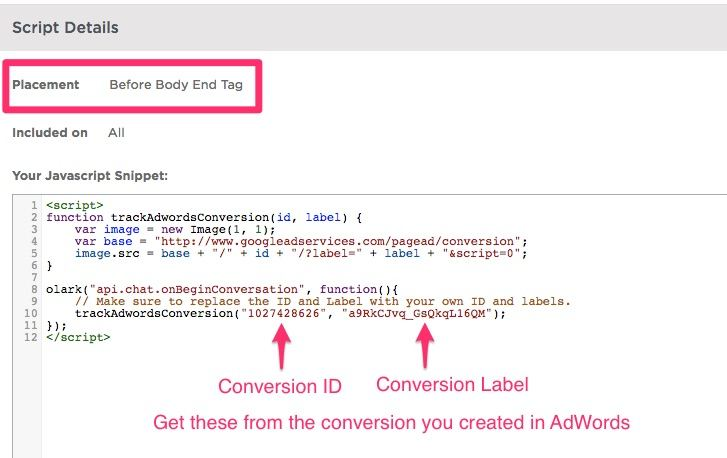 Olark + Unbounce + AdWords: Tracking Chat Conversions | Disruptive Advertising