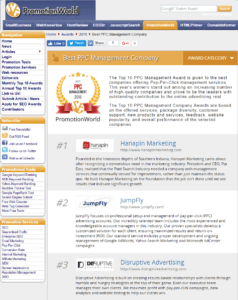 PromotionWorld Lists Disruptive Advertising as a Top PPC Agency | Disruptive Advertising