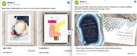 Facebook ad audience segmentation.