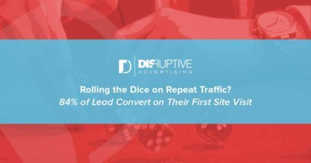 84% of Leads Convert on Their First Site Visit (and What to Do About It) | Disruptive Advertising