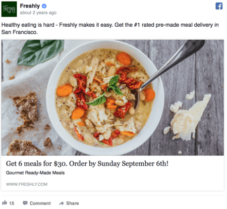 Facebook Ads copy