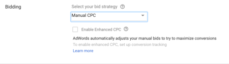 Google Adwords bidding management