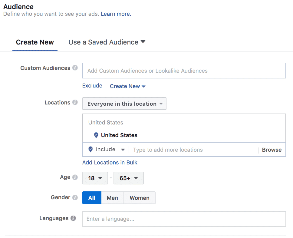 Facebook Ads location targeting
