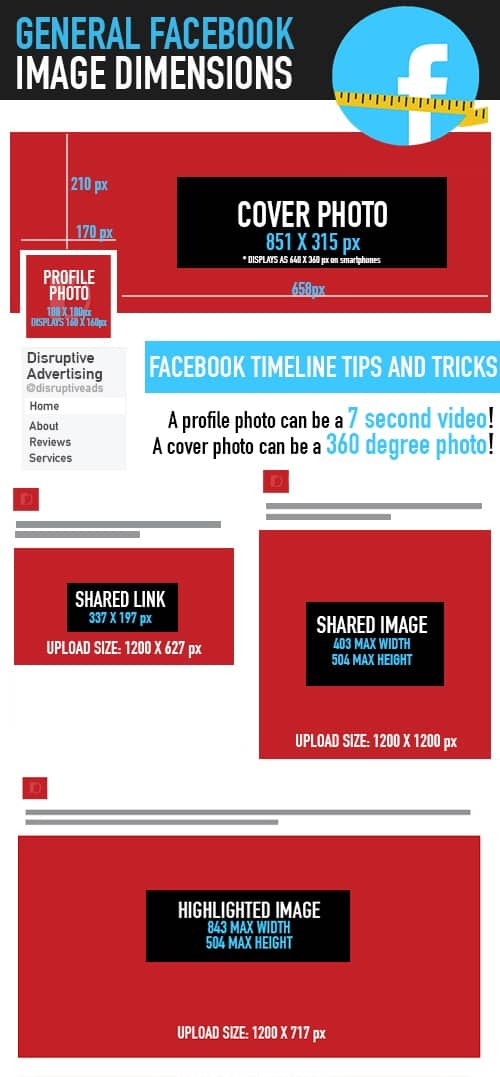 Facebook Is Great For Sharing Pictures >> Size Matters Picking The Right Facebook Image Ads Disruptive
