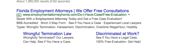 Google AdWords for attorneys