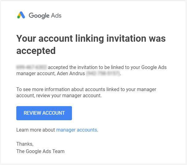 How to Get or Grant Access to a Google Ads Account